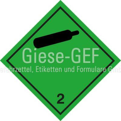 """Gefahrgutetiketten Klasse 2.2 """"Nicht entzündbare, nicht giftige Gase"""""""