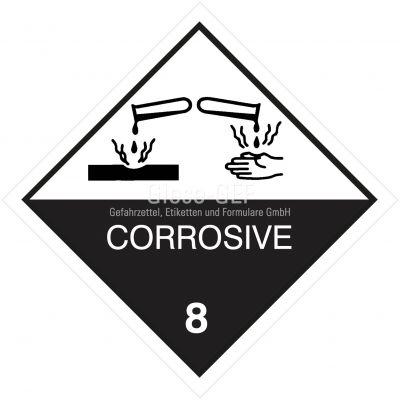 "Gefahrgutetiketten Klasse 8 ""Corrosive"""