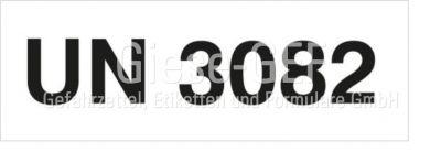 Kennzeichnungsetiketten mit Eindruck der UN-Nummer z.b. (UN3082)