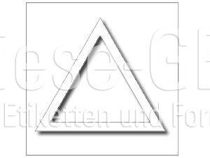 Tastbare Gefahrenhinweise nach EN 272 (3,0 x 3,0 cm)