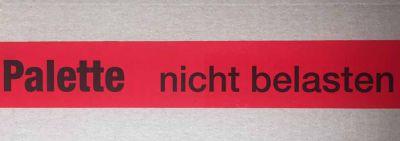 Warndruckklebeband Palette nicht belasten 50mm x 66m