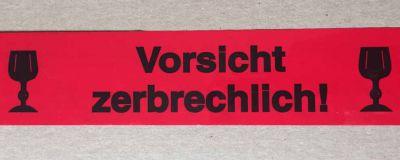 Warndruckklebeband Vorsicht zerbrechlich 50mm x 66m