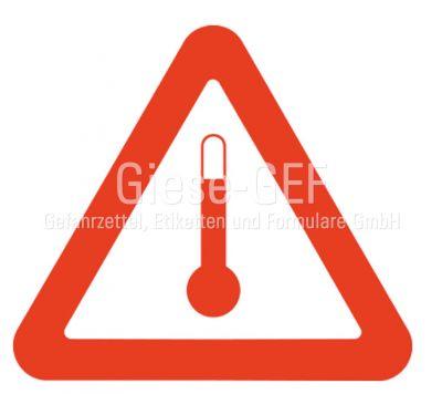 Kennzeichen für Stoffe die im erwärmtem Zustand befördert werden