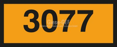 UN-Tafel 30 x 12 cm mit Eindruck Ihrer UN-Nummer