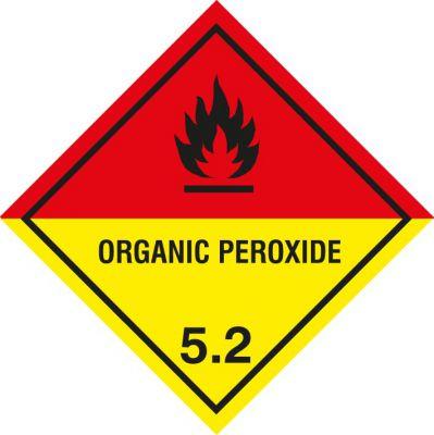 "Gefahrgutetiketten Klasse 5.2 ""Organic Peroxide"""
