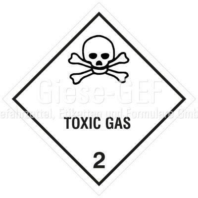 "Gefahrgutetiketten Klasse 2.3 ""Toxic Gas"""