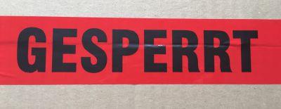 Warndruckklebeband GESPERRT 50mm x 66m