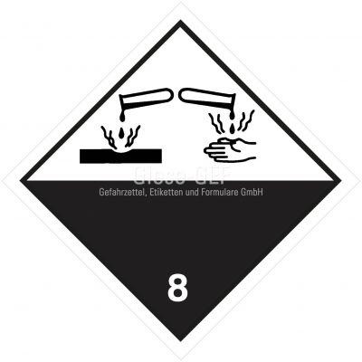 Gefahrgutetiketten Klasse 8