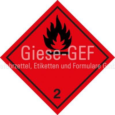 "Gefahrgutetiketten Klasse 2.1 ""Entzündbare Gase"""