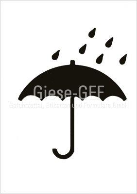 """Einfarbiger Versandaufkleber Symbol """"Vor Nässe schützen"""""""