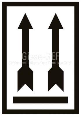 Versandetiketten Symbol oben gem. IATA