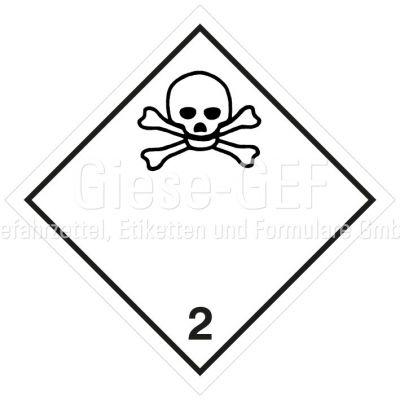 "Gefahrgutetiketten Klasse 2.3 ""Giftige Gase"""