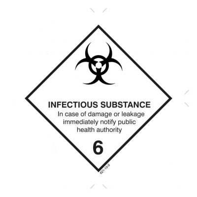 Gefahrgutetiketten Klasse 6.2 - Infectious Substance