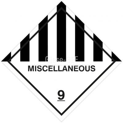 """Gefahrgutetiketten Klasse 9 """"Miscellaneous"""""""