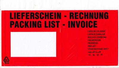 Aufdruck LIEFERSCHEIN / RECHNUNG (10-sprachig)