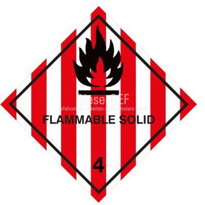 "Gefahrgutetiketten Klasse 4.1 ""Flammable Solid"""