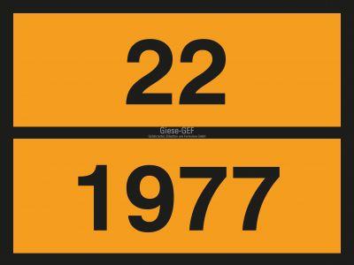 UN-Tafel 40 x 30 cm mit Eindruck Ihrer UN-Nummer