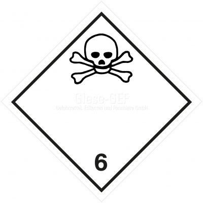 Gefahrgutetiketten Klasse 6.1