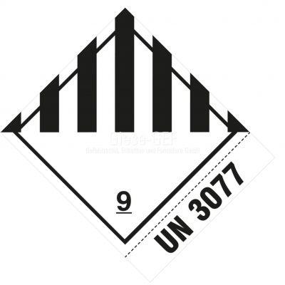 """Nr. 9 Verschiedene gefährlich Stoffe und Gegenstände mit Eindruck """"UN 3077"""""""