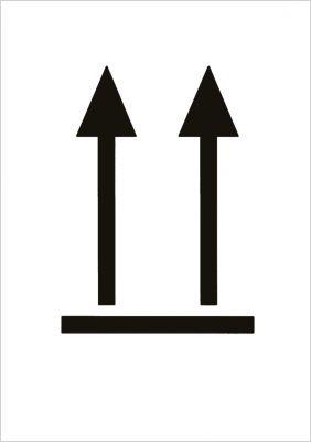 """Versandetiketten """"Symbol oben!"""""""