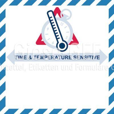 """IATA-Kennzeichen """"Time & Temperature Sensetive"""" neutral PVC-einzeln"""