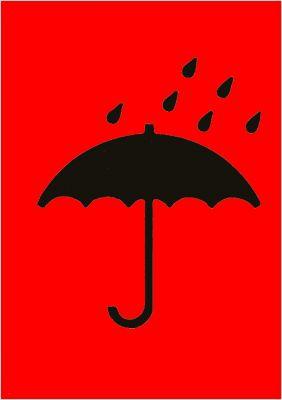 """Versandaufkleber Symbol """"Vor Nässe schützen"""" (2-farbig)"""