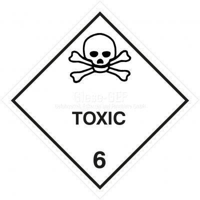 "Gefahrgutetiketten Klasse 6.1 ""Toxic"""