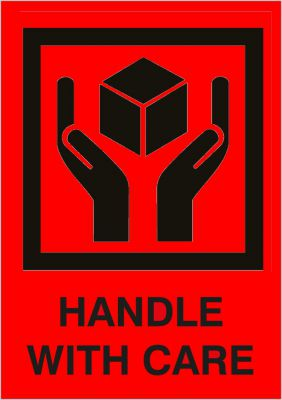"Versandetikett ""Handle with Care"" (2-farbig)"