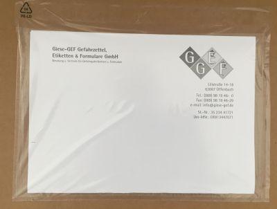 UNBEDRUCKT / TRANSPARENT LANG DIN 24,0 x 14,3 cm